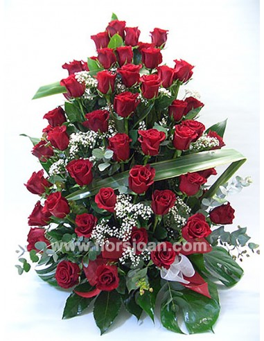 Centro De 50 Rosas Rojas Flors Joan